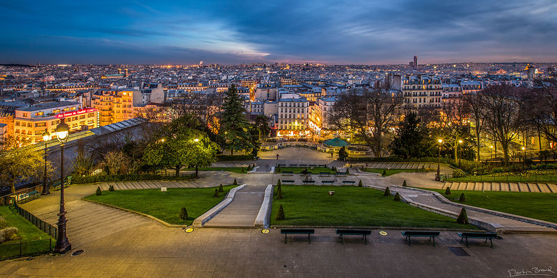 Paris from Montmartre.