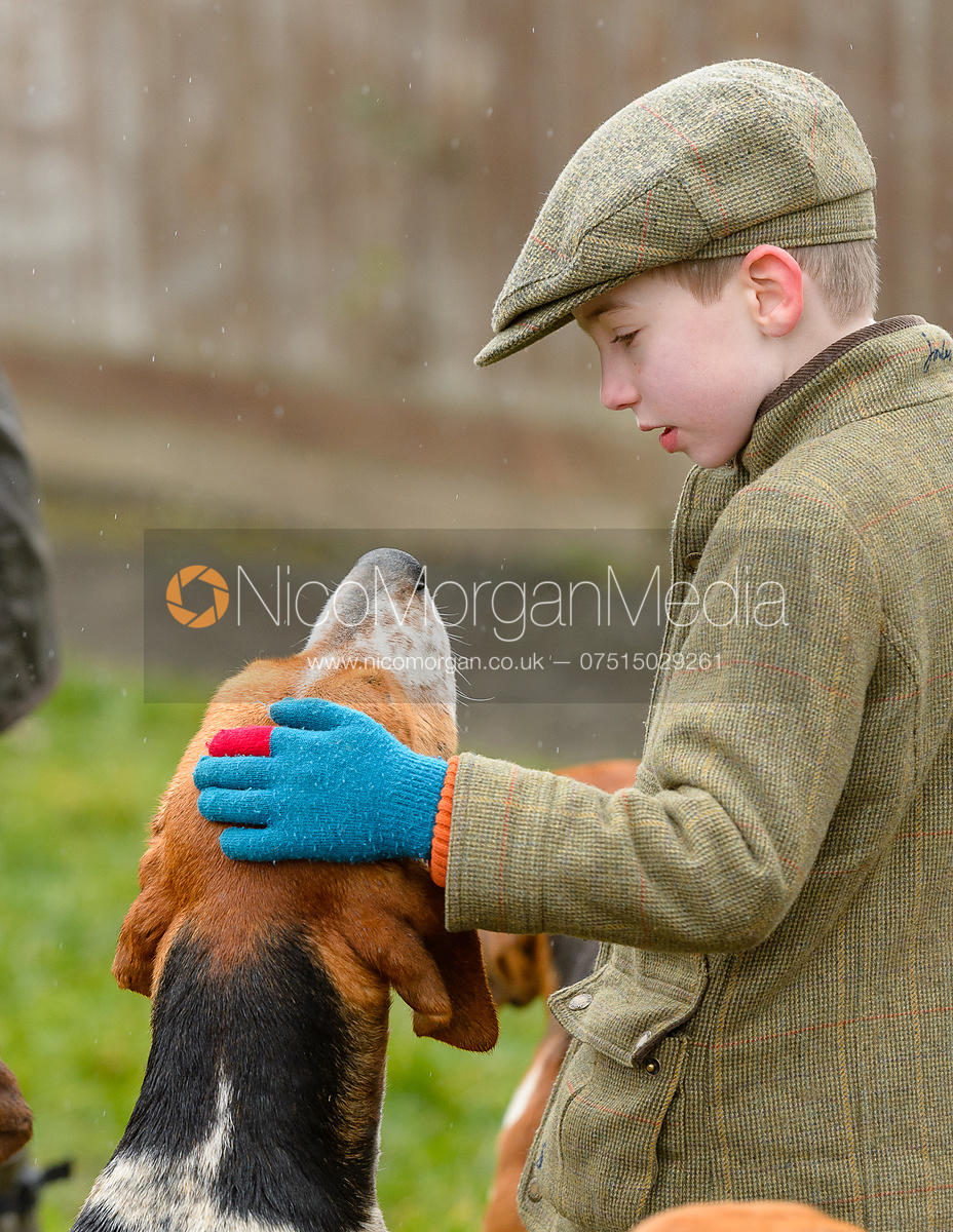 Young supporter at the meet at Farriers Forge