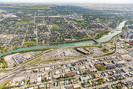 West Village area of Calgary, AB