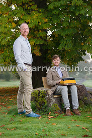 16th October, 2015. Will Meara (seated) and Chris Flack who run the Unplug retreat in Dunderry House, Dunderry, County Meath....