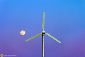 Windmill and Moon #1