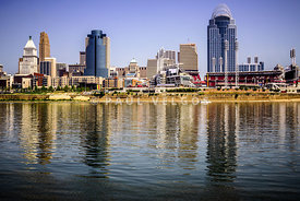Picture of Cincinnati Skyline and Ohio River
