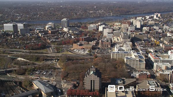 Aerial view of Trenton, NJ.