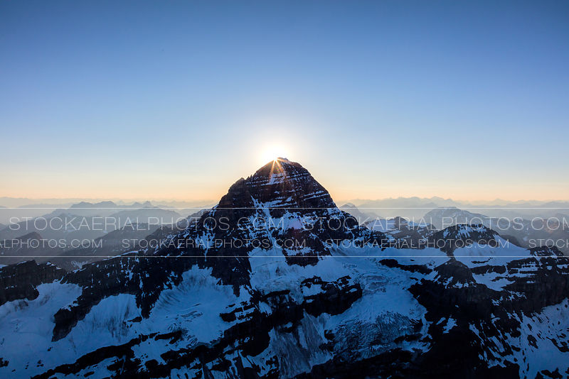 Sunset over Mount Assiniboine