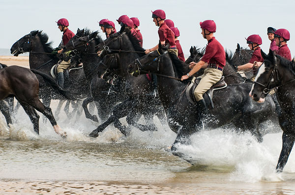 Household Cavalry at the Beach