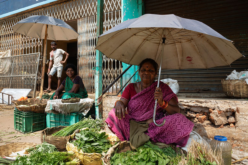 Vegetable Seller at the Parvathipuram Market