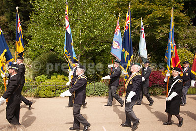 Flag Bearers from World War 2 Associations in the Veterans Parade