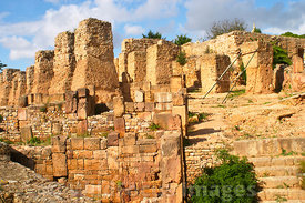 Punic ruins on Byrsa Hill; Carthage Museum, Tunis, Tunisia; Landscape