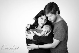 Newborn family studio portrait