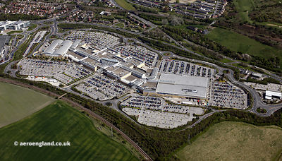 aerial photograph of White Rose Shopping Centre