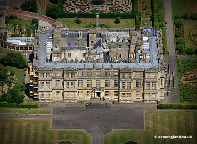 aerial photograph of Longleat House Wiltshire England UK