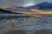 Sunset, Saltburn pier