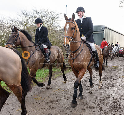 Dr. Willie Reardon leaving the meet. The Cottesmore Hunt at Launde Park Farm