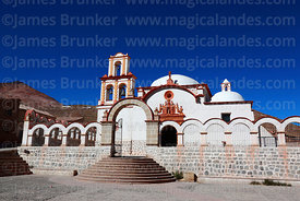 San Benito church, Cerro Rico behind to left, Potosi, Bolivia