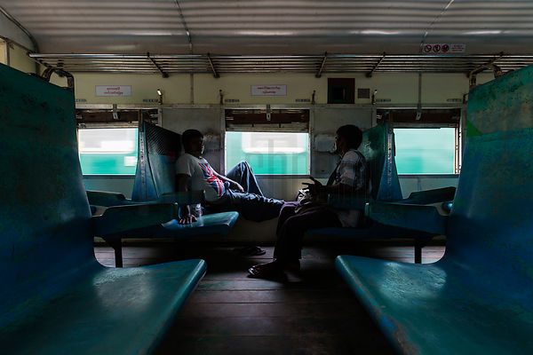 Passengers on the Yangon Circle Line