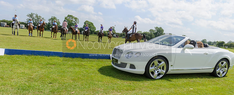 The Bentley ready for the throw in - Assam Cup Final - Los Chinos vs. Three Oceans CANI - 30th June 2013.