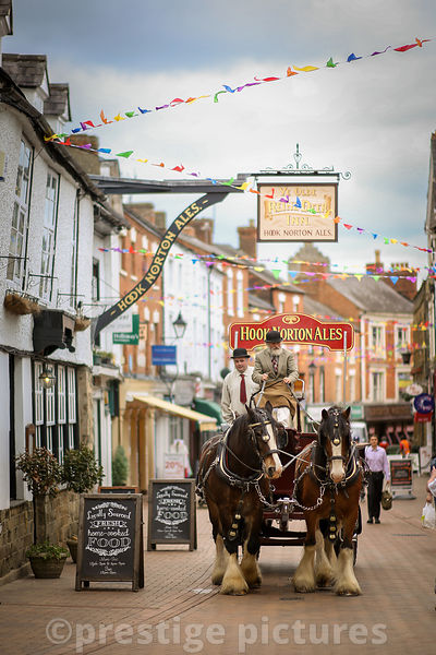 Hook Norton Brewery Shire Horses in Parsons Street Banbury