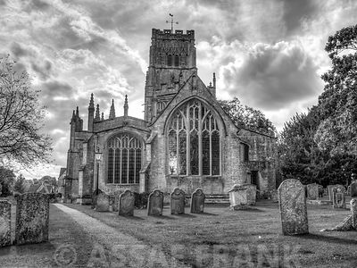 Old church in Northleach town, Cotswolds, UK