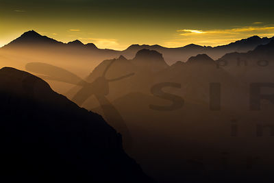 Morning in French-Italian Alps from Mont Thabor