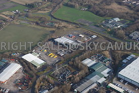 Skelmersdale aerial view of the Rodco Works Stanley industrial estate