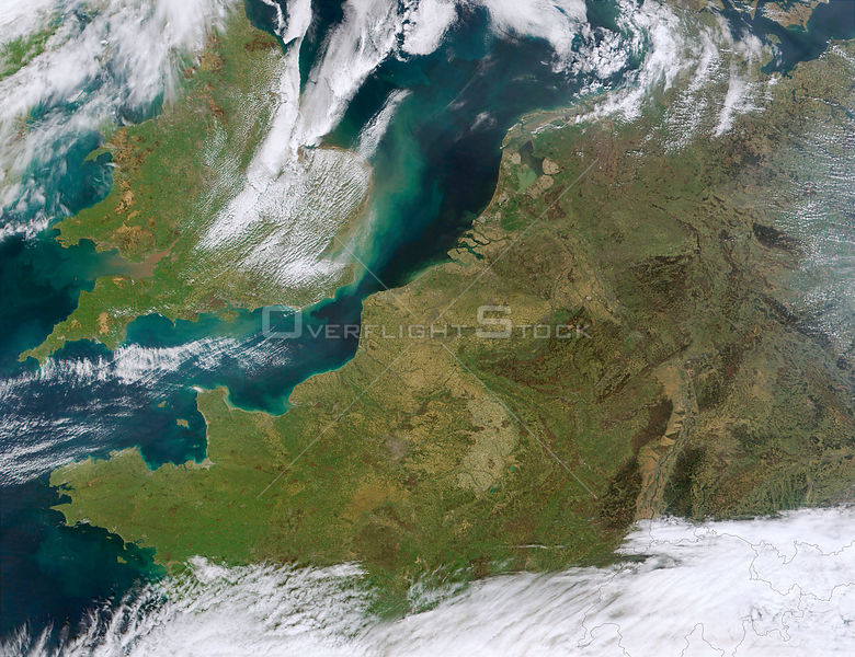 EARTH The Netherlands -- 08 Apr 2002 -- This MODIS true-color image, depicts northwestern Europe. Visible are the Republic of...