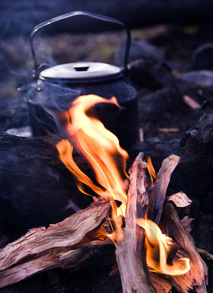 Coffee Pot And Fire