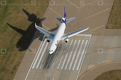 Fed Ex Jets Landing Air-to-Air Aerial Photo