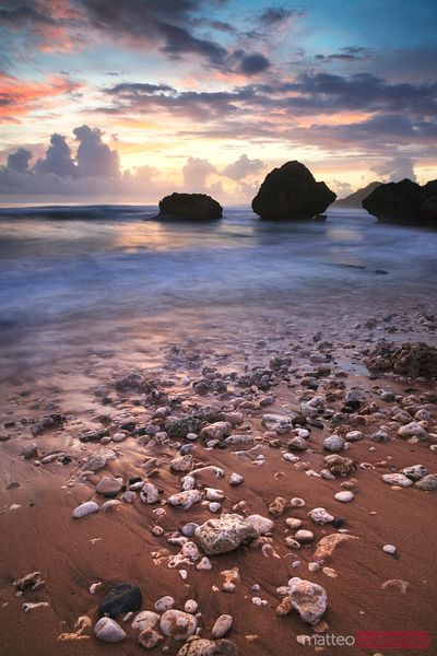Bathsheba beach in the Barbados at sunrise