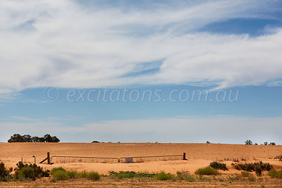 Sand drift near Wentworth, NSW, Australia