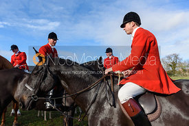William Bell at the meet. The Cottesmore Hunt at Tilton