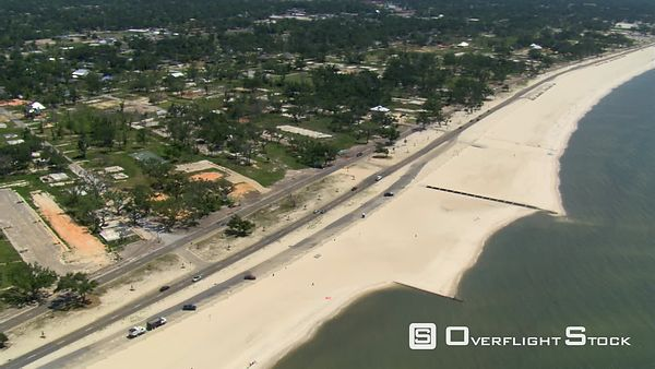 Flight along Beach Drive, Gulfport, Mississippi with views of neighborhood devastation