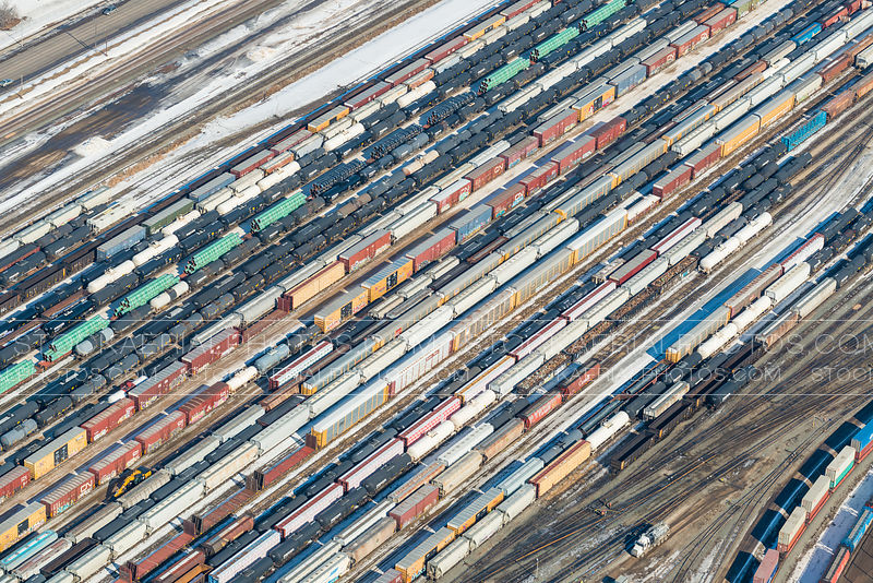 Rail Cars Abstract