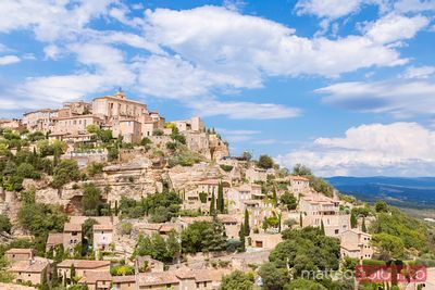 View of the old town of Gordes, Vaucluse, France