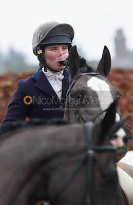 Bella Higham at the meet at Barleythorpe 6/12