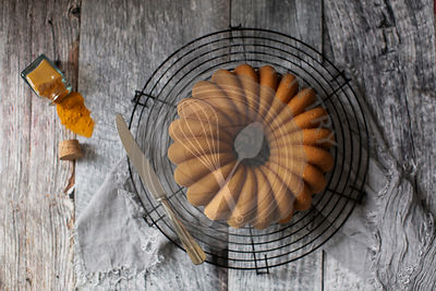 Soft and delicious bundt cake with a golden velvety crumb.