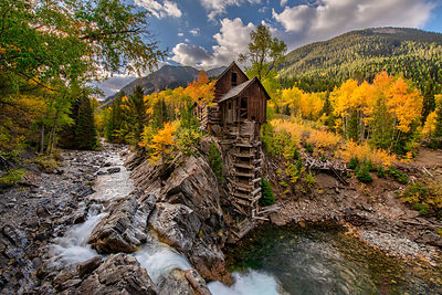 Autumn Day at Crystal Mill