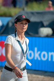 27/07/18, Berlin, Germany, Sport, Equestrian sport Global Jumping Berlin -   Image shows Gerogina Bloomberg. Copyright: Thoma...