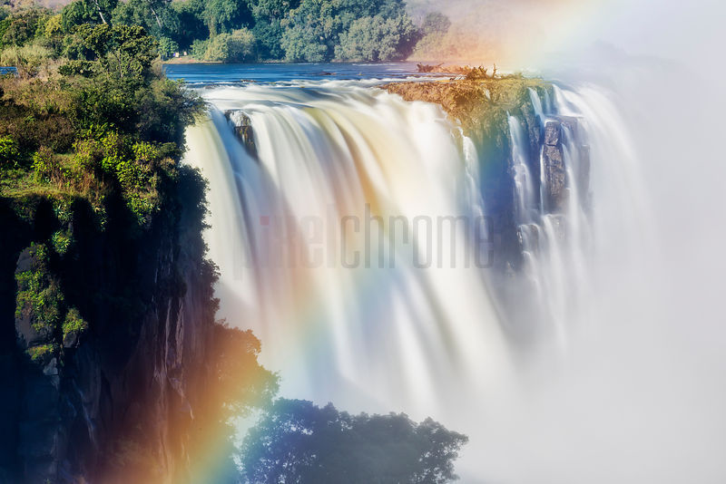 A View of the Main Falls and a Rainbow