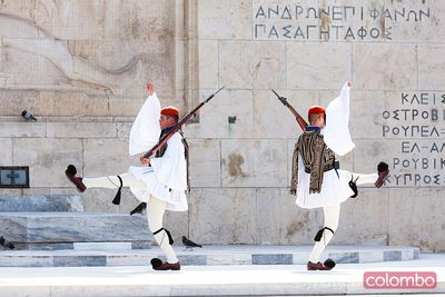 Changing of the guards ceremony, Syntagma square, Athens, Greece