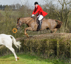 Michael Dungworth jumping a hedge