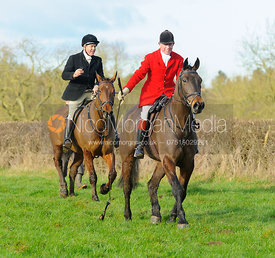 David Manning laying the trail - The Belvoir Hunt at Waltham House 14/1