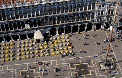 Aerial view of St Mark's square, Venice, Italy