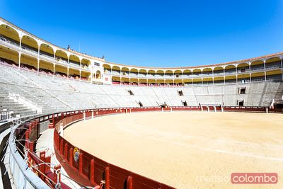 Inside Plaza de Toros arena of Madrid, Spain