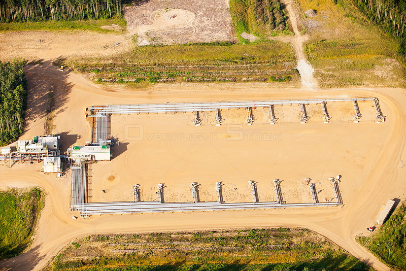 A SAG D (Steam assisted Gravity Drainage) tar sands plant north of Fort McMurray. The SAG D is used to extract the bitumen fr...