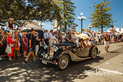 Art Deco Saturday 2014.  Vintage Car Parade.  License Plate MG 1937