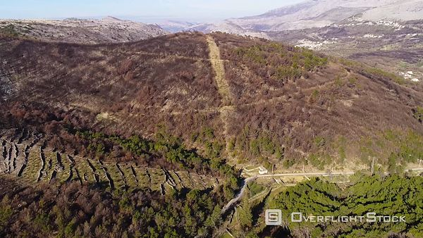 Forest Fire Aftermath near Split Croatia