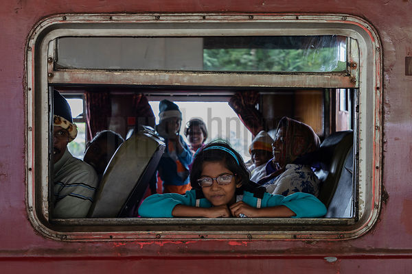 Portrait of a Girl on the Nuwara Eliya to Kandy Train