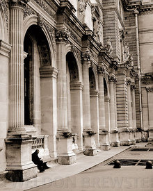 Quiet Moment at the Louvre