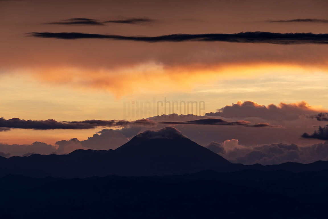 Volcán Tajumulco at Sunset