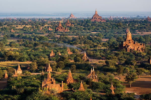 Aerial View of the Pagoda Field at Bagan